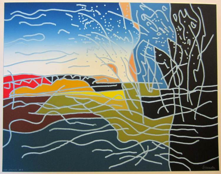 Four Seasons a serigraph 1989 by Arthur Secunda