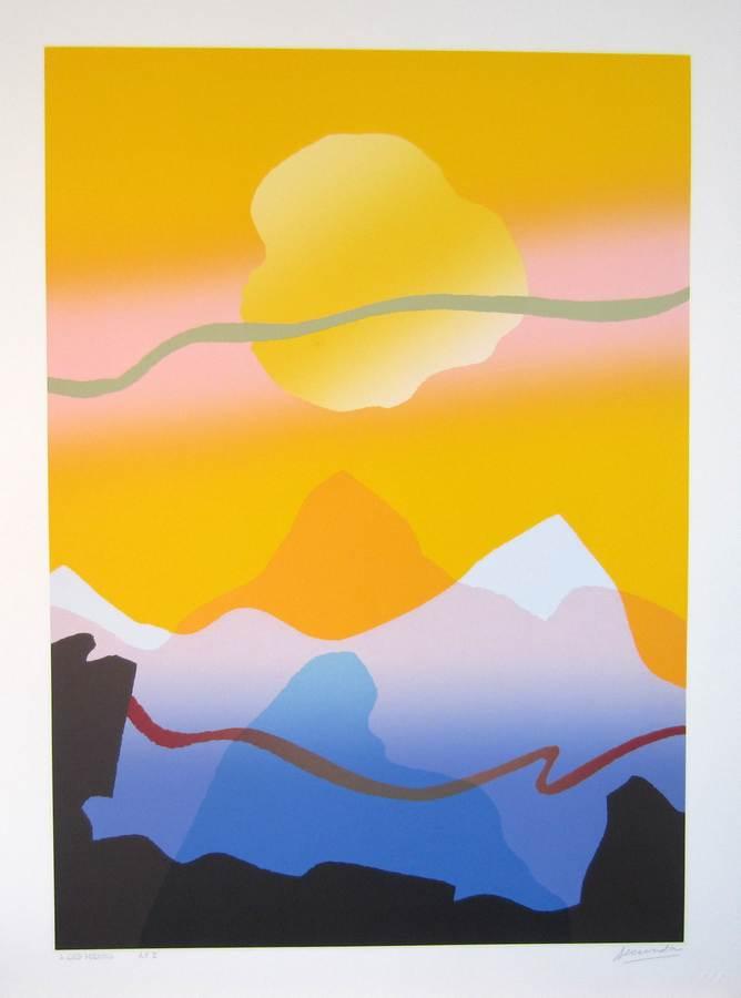 A Good Morning a silkscreen print by Arthur Secunda