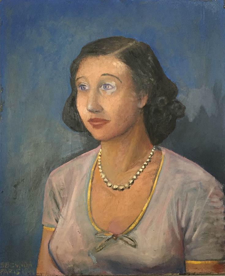 Kate LeBeaux portrait by Arthur Secunda