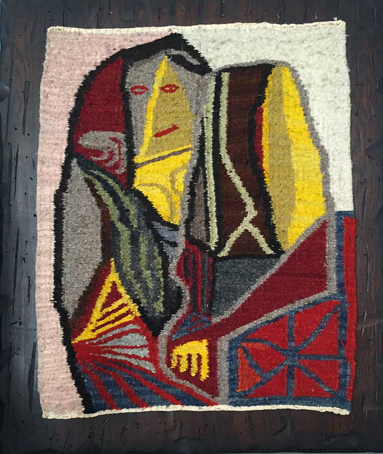 woven cloth Mexican Tapestry created by Arthur Secunda
