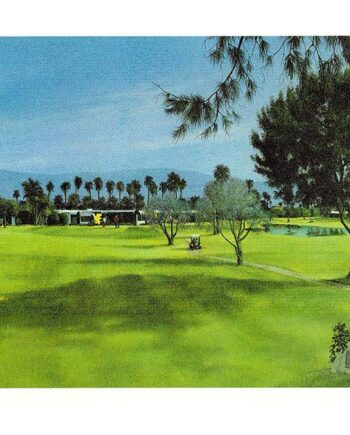 Ike hole in one - a limited edition lithographic print by Richard Danskin