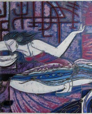 Adrian Wong Shue A serigraph Song Bird