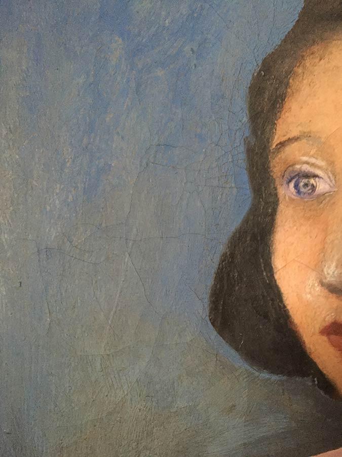 Kate Lebeaux a portrait in oil by Arthur Secunda