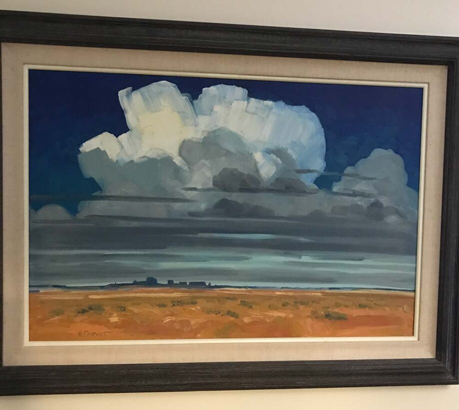 Hugh Cabot III original oil painting Monuments in the Sky