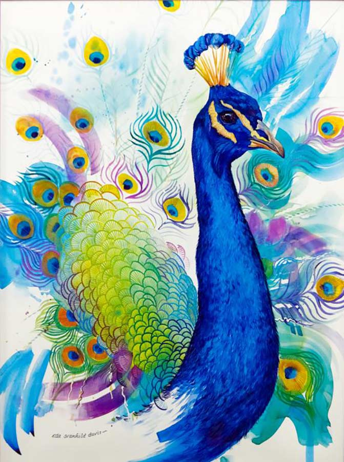 Peacock by Eda Svanhild Davis a limited edition print