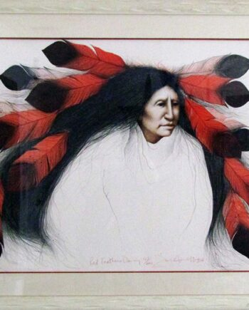 Red Feathers Dancing by Frank Howell a sought after limited edition print