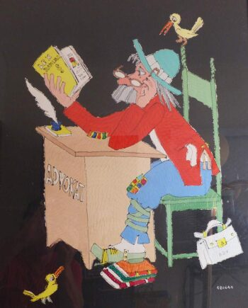 Advokat a period oil painting by Jovan Obican