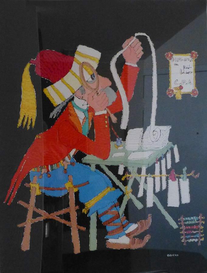 Jovan Obican painting Diploma CPA