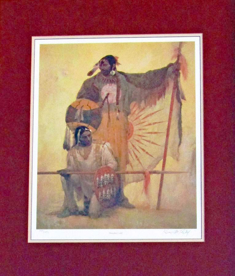 Mandan Gold by Kenneth Riley a Native American limited edition print