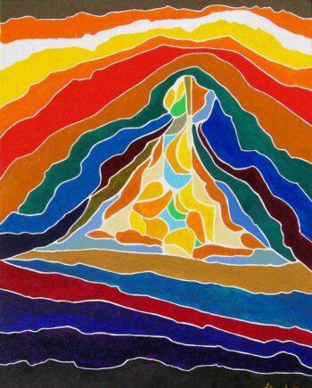 Arthur Secunda Love Triangle an oil painting