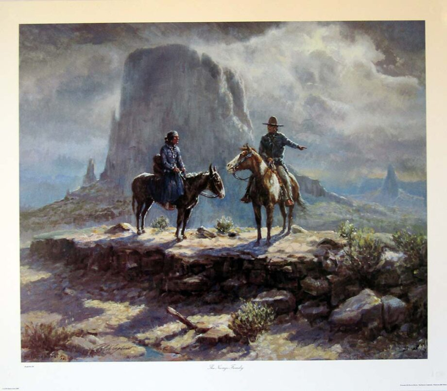 The Navajo Family by Olaf Wieghorst a Native American limited edition print