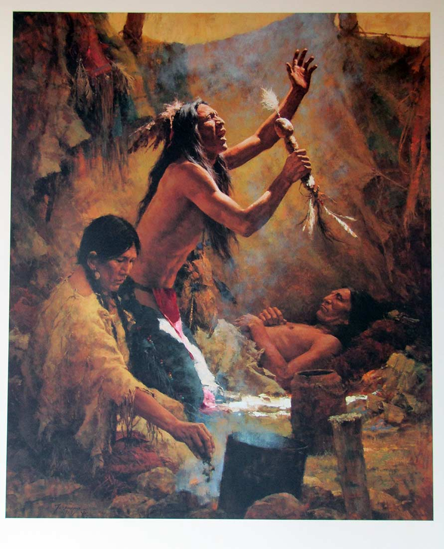 Medicine Man of the Cheyenne by Howard Terpning a sought after limited edition print