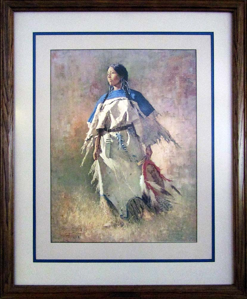Shield of Her Husband by Howard Terpning a sought after limited edition print