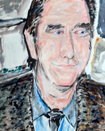 Beau Bridges - Original Mixed-Media Painting by Peter Daniels