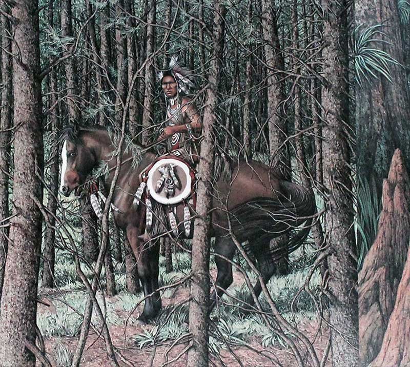 Bev Doolittle limited edition lithograph titled Sacred Circle