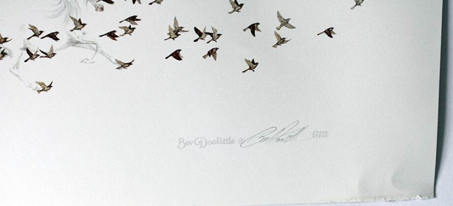 Bev Doolittle limited edition lithograph titled Wind had Wings