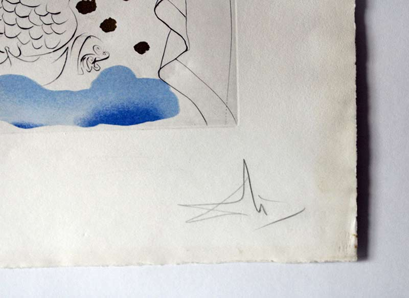 Title unknown - watercolor paper Limited Edition 22/150 by Salvador Dali