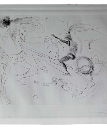 Sketch on Watercolor paper by Salvador Dali- EA Artists Proof