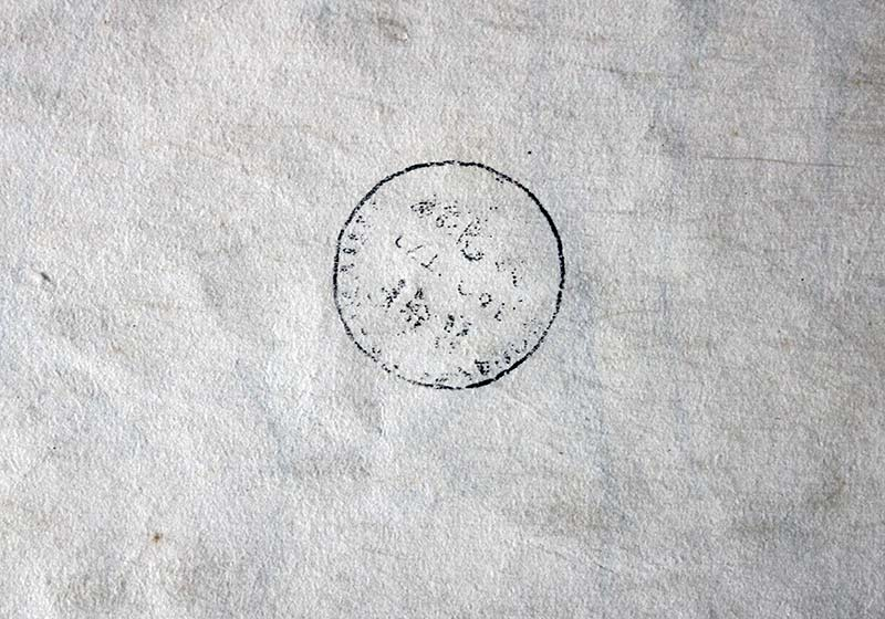 Limited Edition 66/720 Untitled on watercolor paper - stamp on the back looks like notary or entry stamp – looks sketched by Salvador Dali