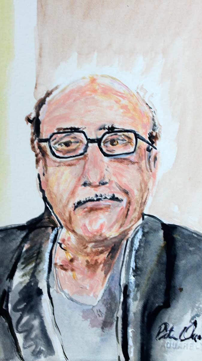 Danny Devito - Original Mixed-Media Painting by Peter Daniels