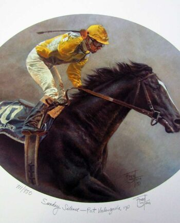 Sunday Silence - Pat Valenzuela by Fred Stone a limited edition art print of Pat Valenzuela
