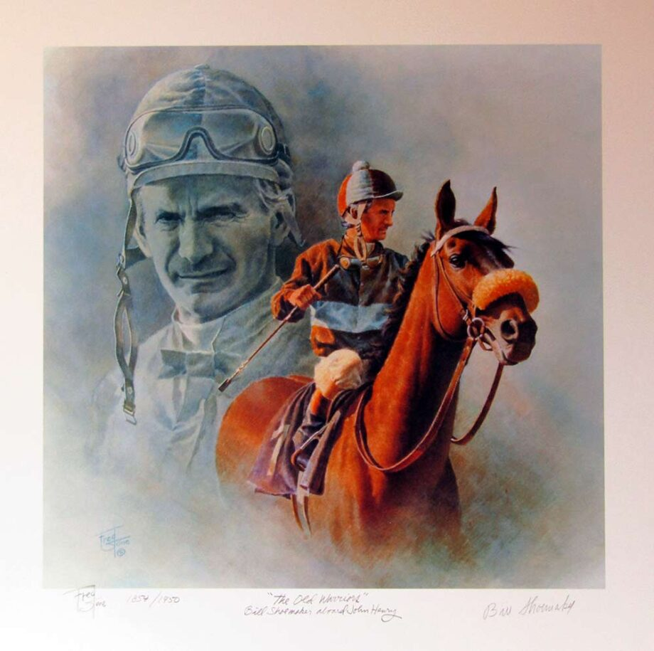 The Old Warriors - Bill Shoemaker aboard John Henry by Fred Stone a limited edition art print