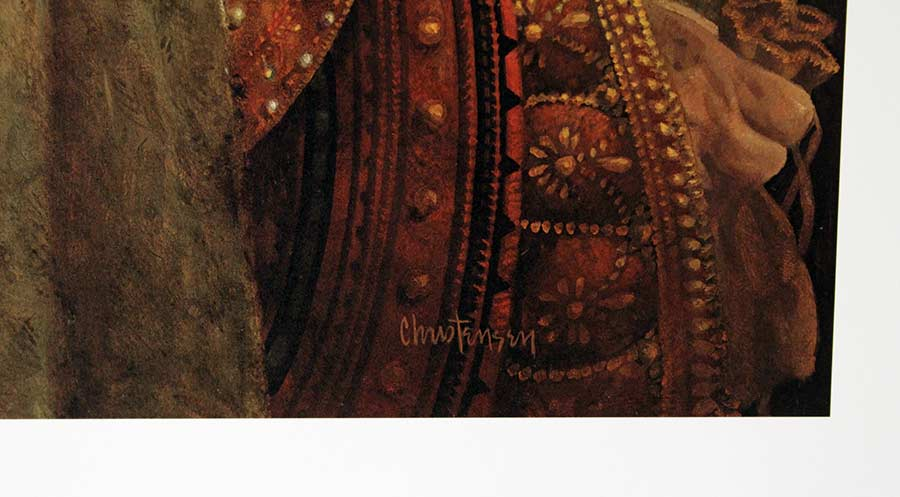 James C. Christensen limited edition color lithograph titled The Widows Mite