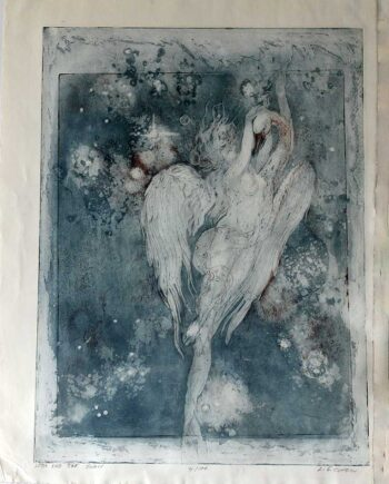 L.G. Cohen limited edition lithograph titled Leda and the Swan