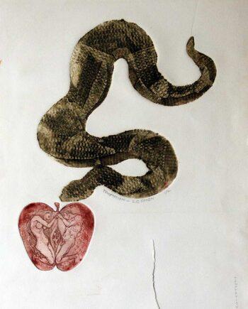 L.G. Cohen limited edition lithograph titled Temptation
