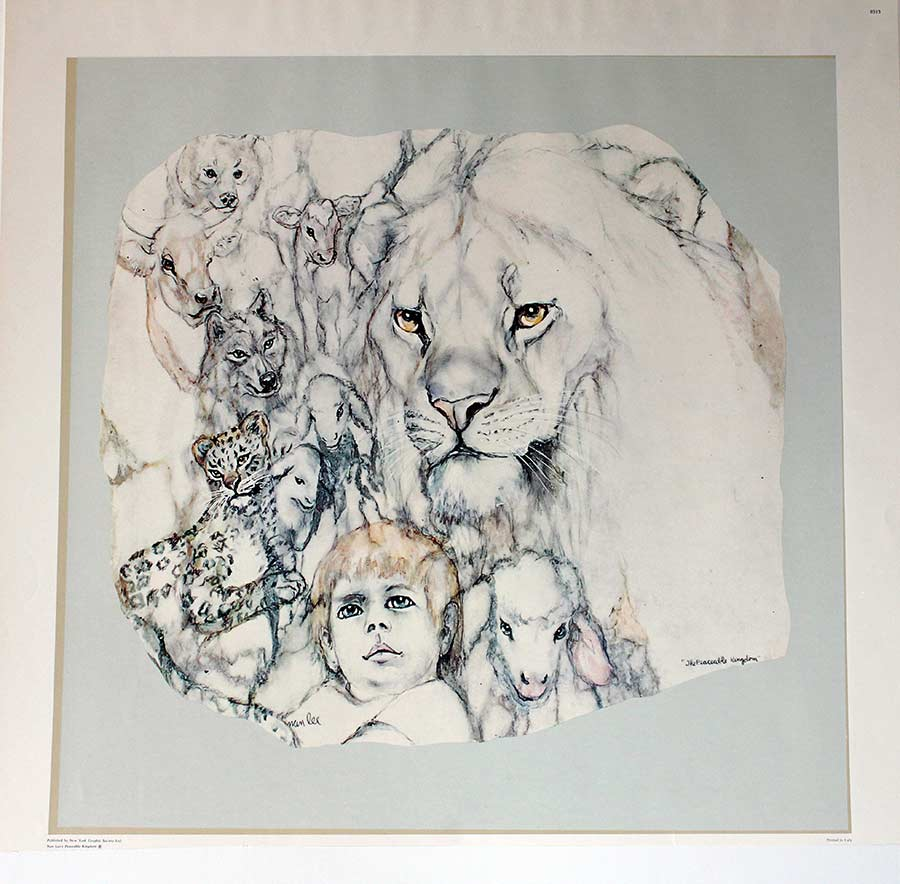 Nan Lee limited edition lithograph titled The Peaceful Kingdom