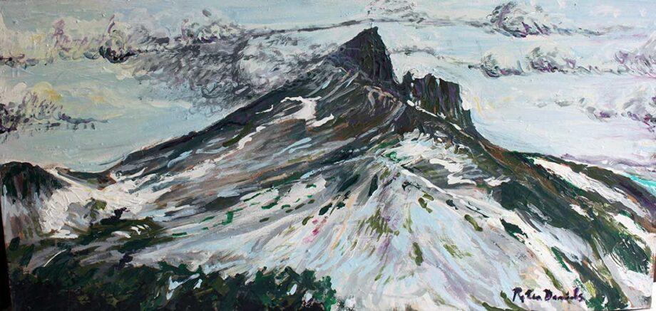 Black Tusk (Whistler) - Original Acrylic Painting by Peter Daniels