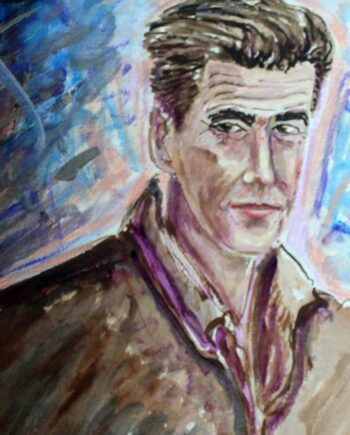 Pierce Brosnan - Original Mixed-Media Painting by Peter Daniels