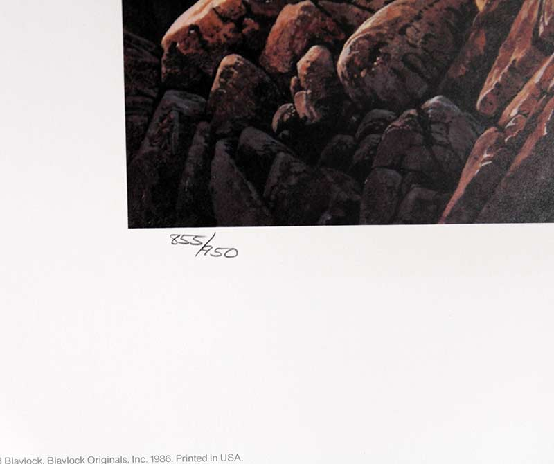 Anasazi Nest Builder II - Limited Edition Lithograph by Ted Blaylock