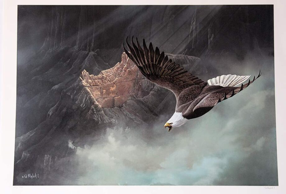 Eagle - Limited Edition Lithograph by Ted Blaylock
