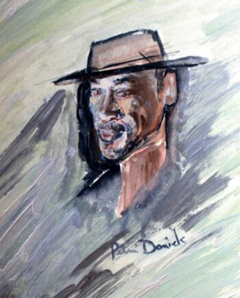 Will Smith - Original Mixed-Media Painting by Peter Daniels