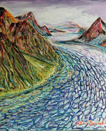 Alaska - Original Acrylic Painting by Peter Daniels