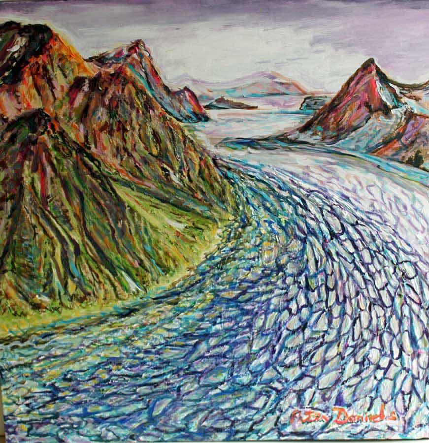 Alaska - Original Acrylic Painting by Peter Daniels