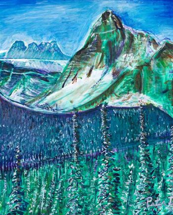 Banff - Original Acrylic Painting by Peter Daniels