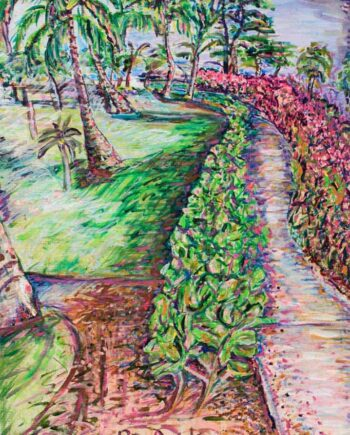 Pathway - Original Acrylic Painting by Peter Daniels