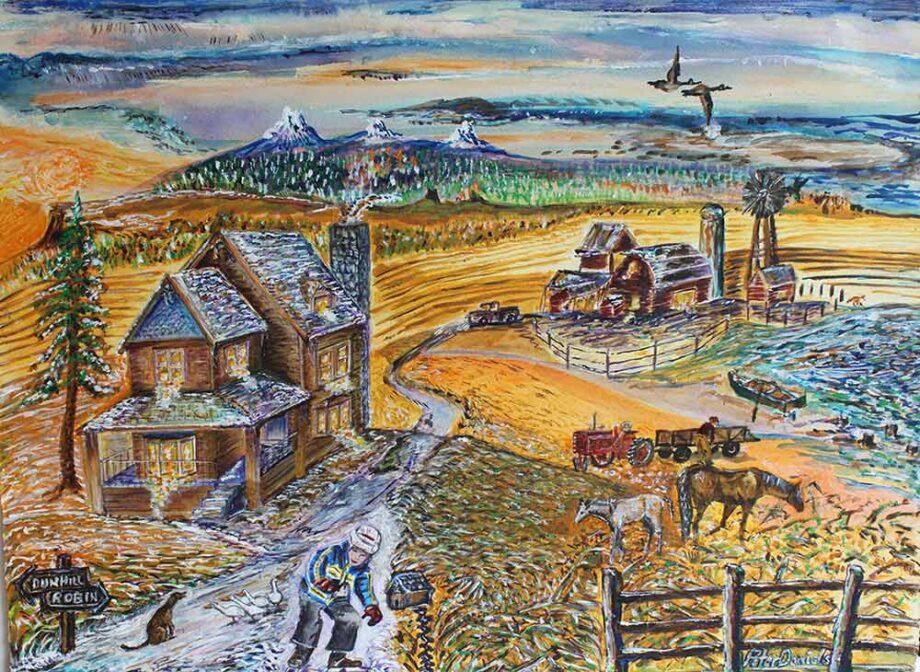 Dun-hill - Original Acrylic Painting by Peter Daniels