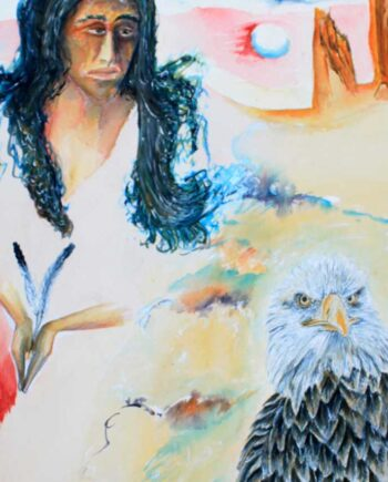 Eagle Spirit. This is a watercolor/acrylic on paper, Painted by International Artist; Peter Daniels