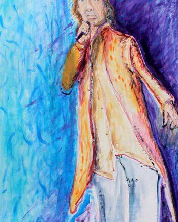 Mick Jagger - Original Acrylic Painting by Peter Daniels