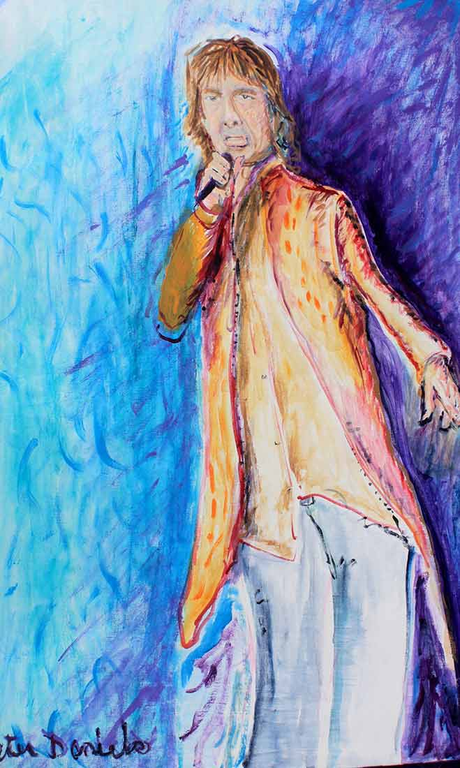 Mick Jagger - Original Acrylic Painting by Peter Daniels
