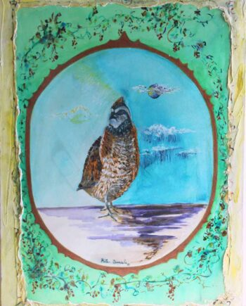 Ode to the Quail - Original Acrylic Painting by Peter Daniels