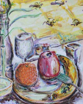 Still life #3 - Original Acrylic Painting by Peter Daniels