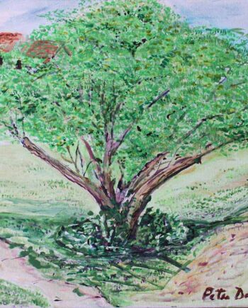Tree - Original Acrylic Painting by Peter Daniels