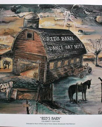Red's Barn. Celebrity Edition a lithograph 250 S/N by Peter Daniels