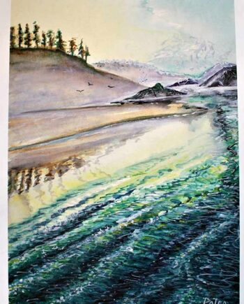 Sea to Sky a lithographic print 250 S/N by artist Peter Daniels