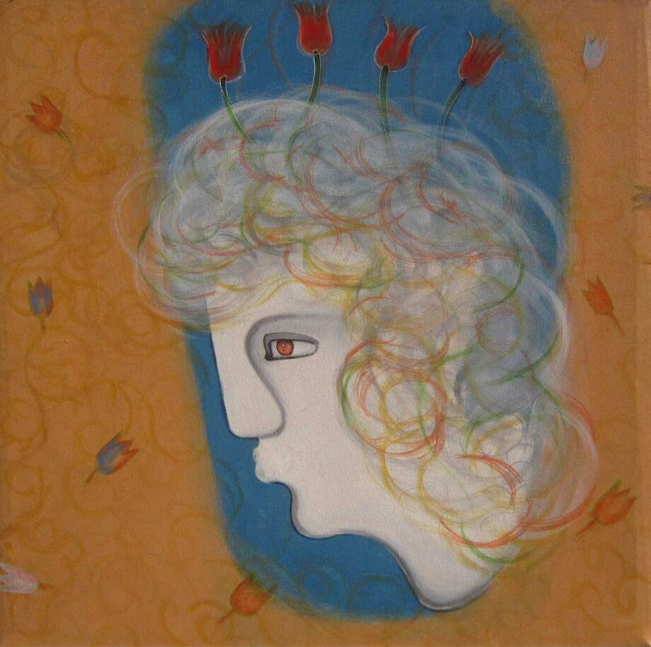 Beautiful Thoughts Of Conscious Mind an acrylic painting by Rajesh Choudhari