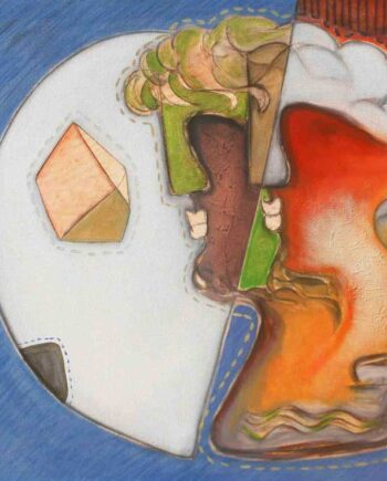 Half Moon an acrylic painting on canvas by Rajesh Choudhari